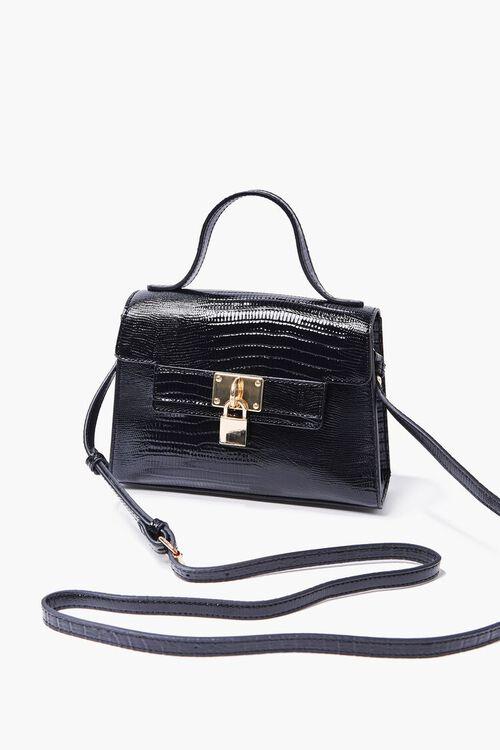 Faux Croc Leather Crossbody Bag, image 1