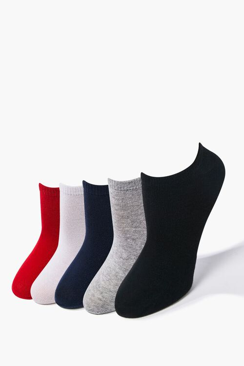 RED/NAVY Assorted Ankle Socks - 5 Pack, image 1