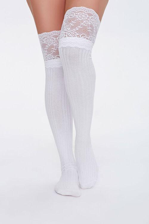 Lace Knee-High Socks, image 4