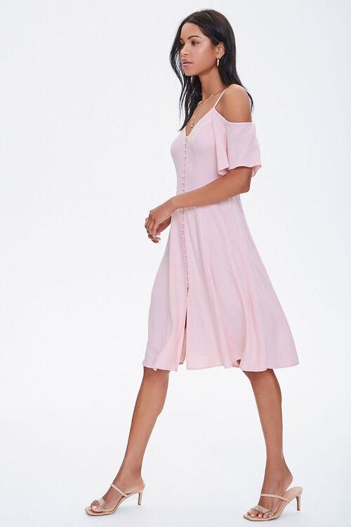 Buttoned Open-Shoulder Dress, image 2