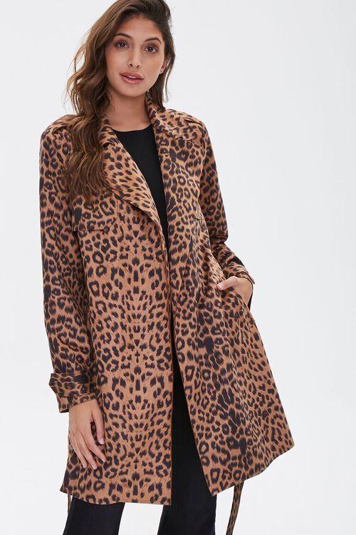 Leopard Print Wrap Jacket, image 1