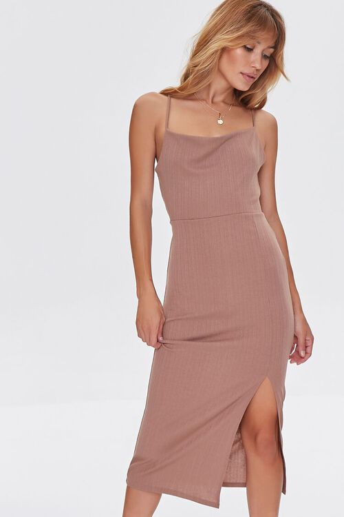 Lace-Back Bodycon Dress, image 1