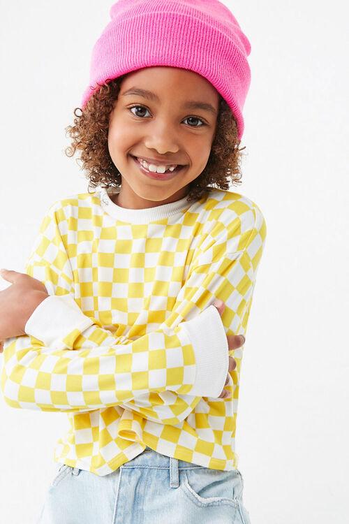 Girls Checkered Tee (Kids), image 1