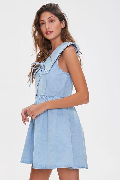 Denim Fit & Flare Dress, image 2