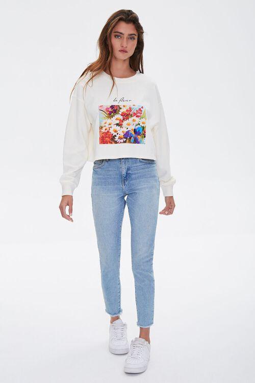 Floral Graphic Boxy Sweatshirt, image 5