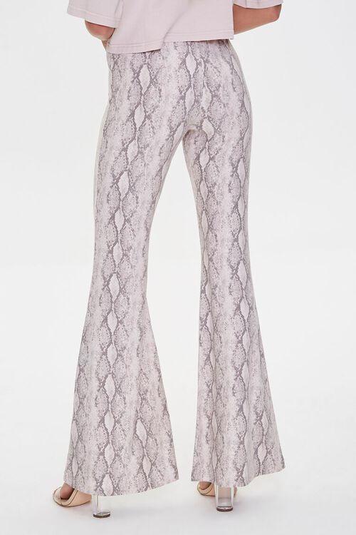 Jordyn Snakeskin Print Flare Pants, image 4