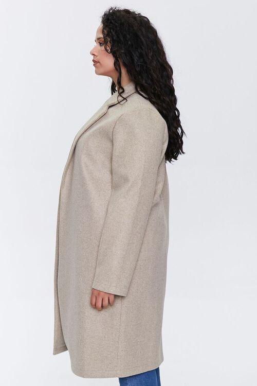 Plus Size Heathered Duster Jacket, image 2