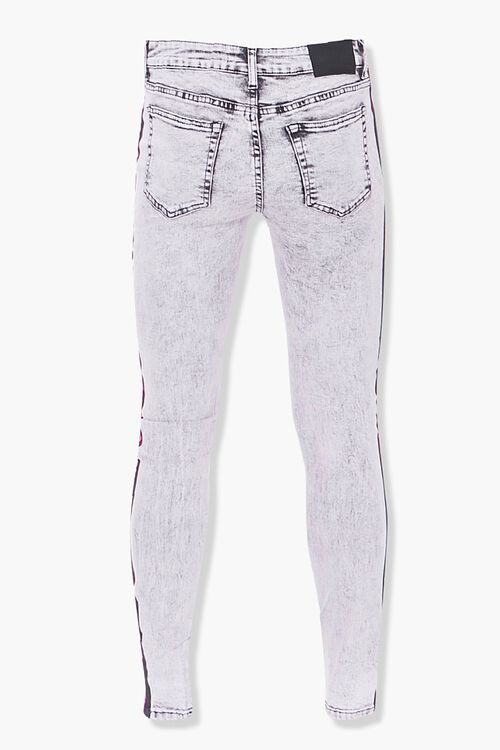 Distressed Side-Striped Skinny Jeans, image 3