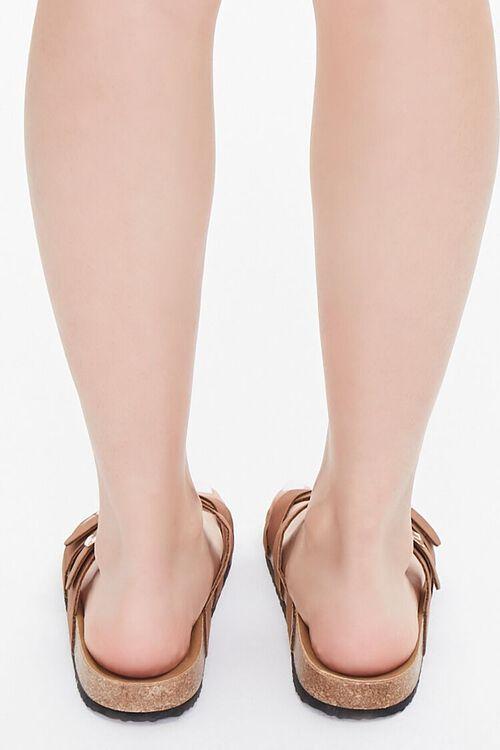 Faux Suede & Cork Flatform Sandals, image 3