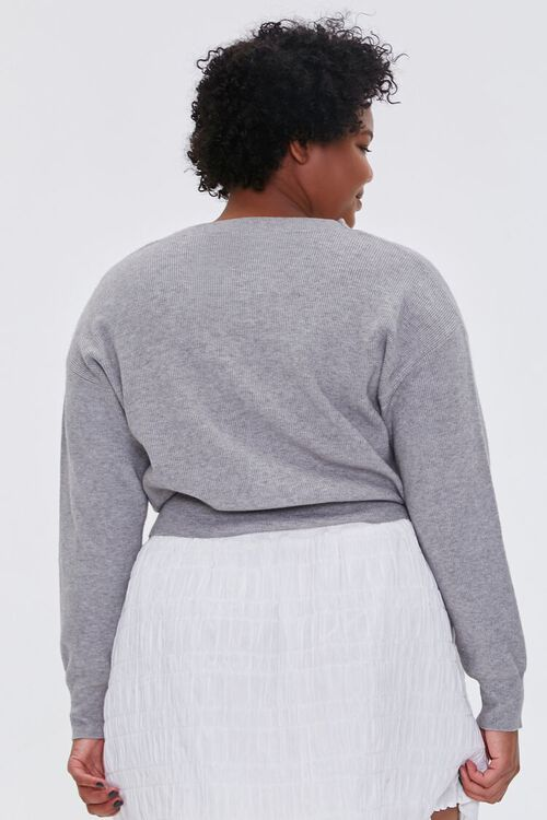 Plus Size Buttoned Cardigan Sweater, image 3