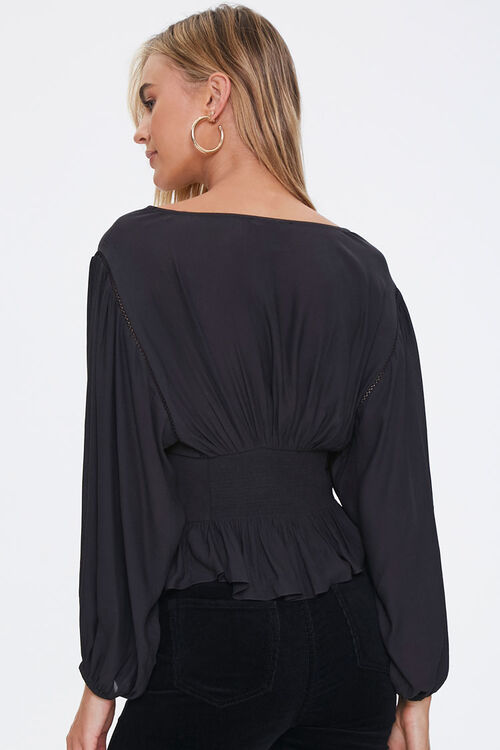 Lace-Up Peasant Top, image 3