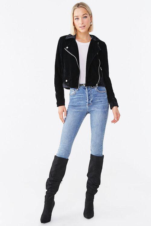 Velour Moto Jacket, image 4