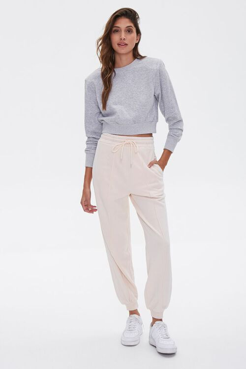 Side-Striped French Terry Joggers, image 1