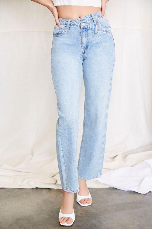 LIGHT DENIM Crisscross Waist 90s Fit Jeans, image 2
