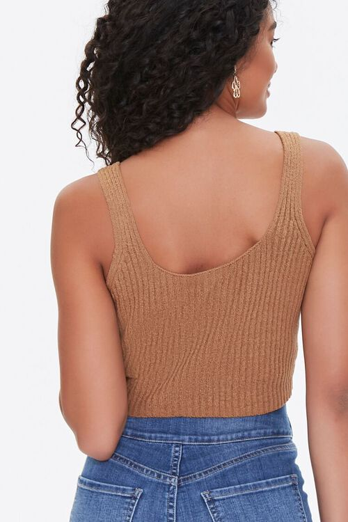 Sweater-Knit Cropped Tank Top, image 3