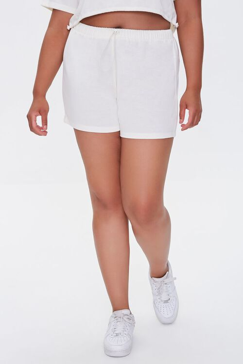 Plus Size French Terry Shorts, image 2