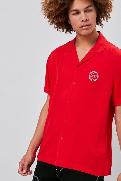 RED/WHITE Classic Fit Worldwide Shirt, image 1