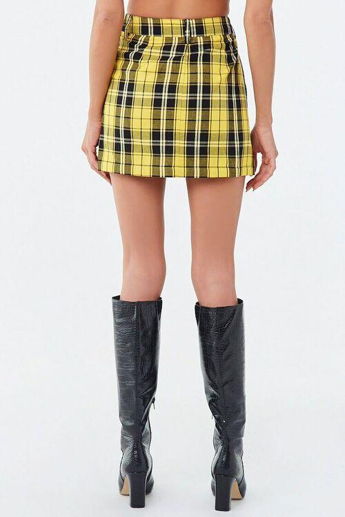 Plaid Zip-Front Mini Skirt, image 3