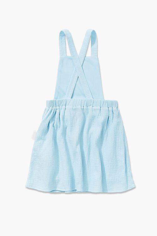 Girls Textured Overall Dress (Kids), image 2