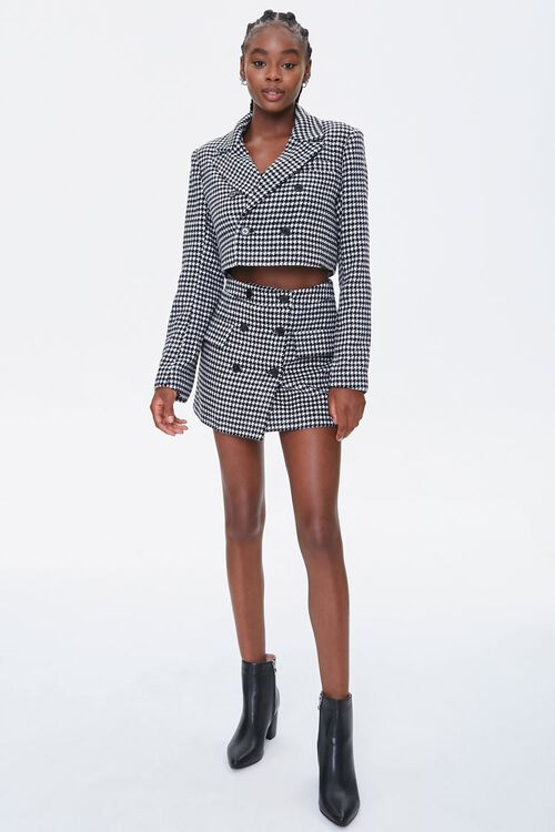 Houndstooth Double-Breasted Blazer, image 4