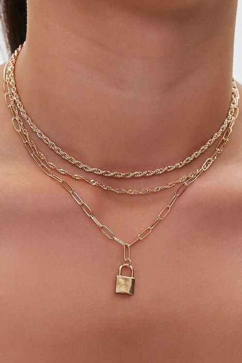Upcycled Lock Necklace Set, image 1