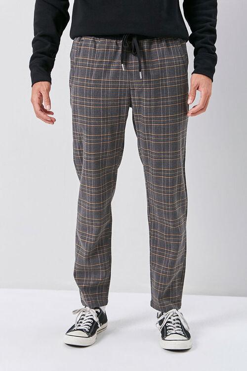 Glen Plaid Drawstring Pants, image 2