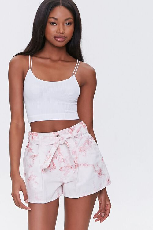 Belted Tie-Dye Shorts, image 1