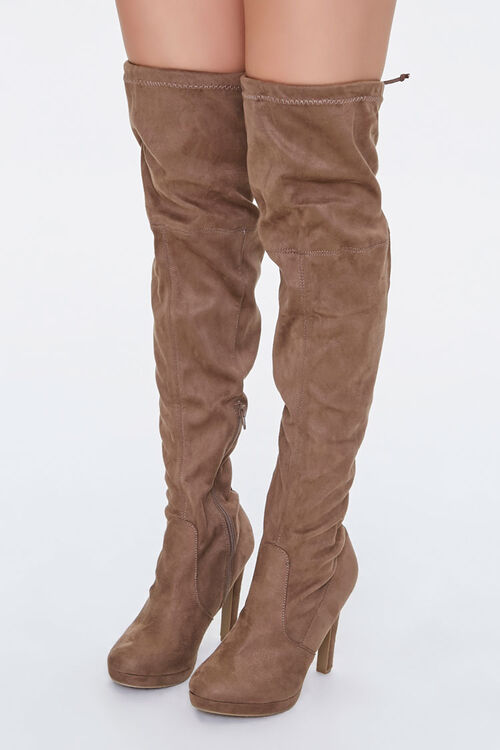 Lace-Up Knee-High Stiletto Boots, image 1