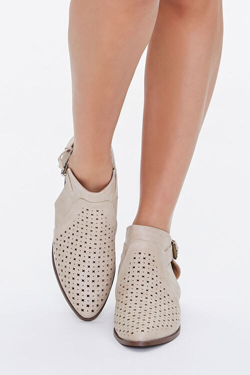 Perforated Buckled Booties, image 4