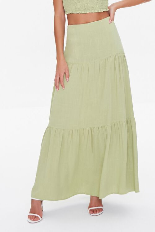 Smocked Cropped Cami & Tiered Skirt Set, image 5