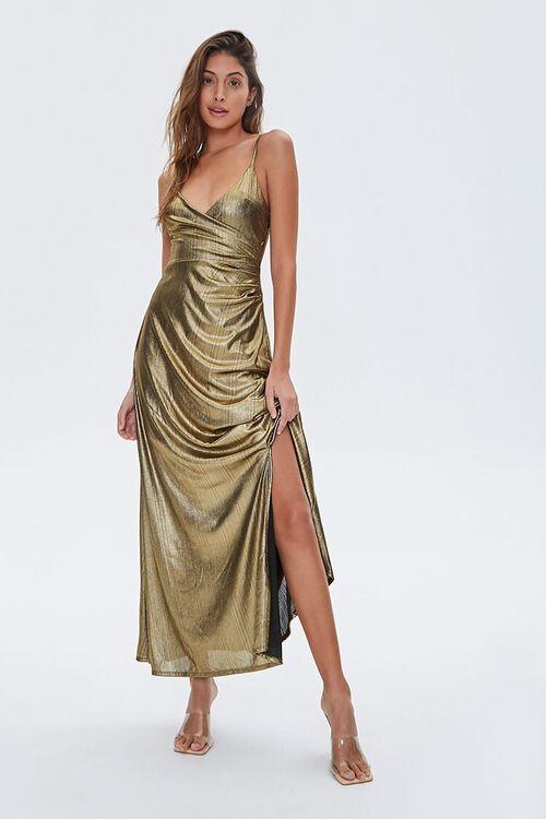 GOLD Metallic Cami Maxi Dress, image 1