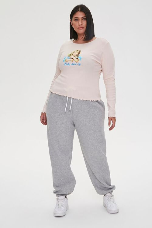 Plus Size Baby Dont Cry Graphic Top, image 4
