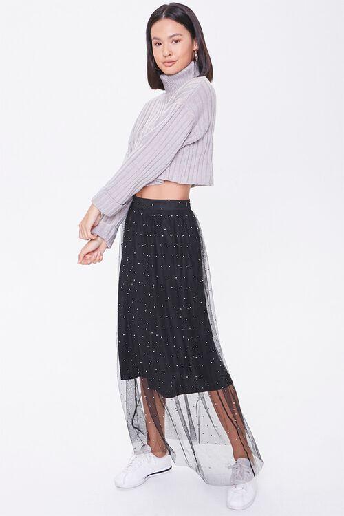 Faux Gem Mesh Midi Skirt, image 5