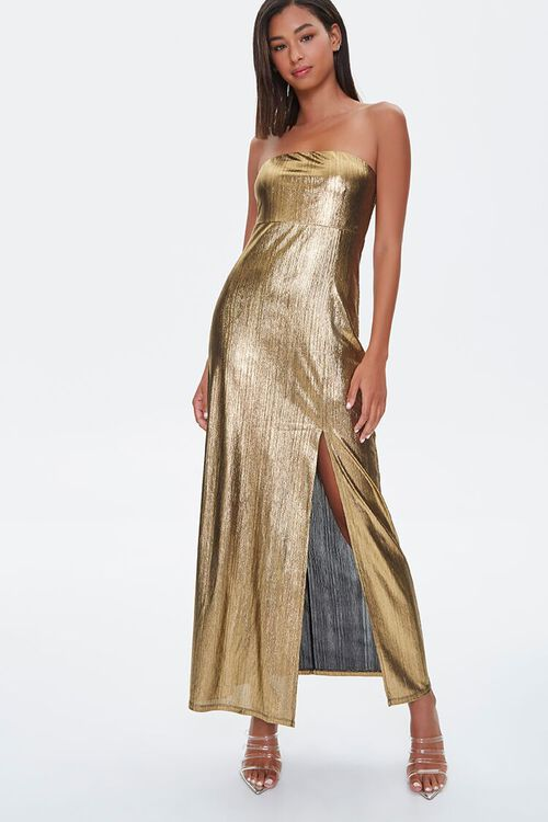 Metallic Maxi Dress, image 4