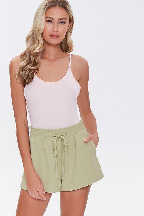 Ruffle Trim Drawstring Shorts, image 5