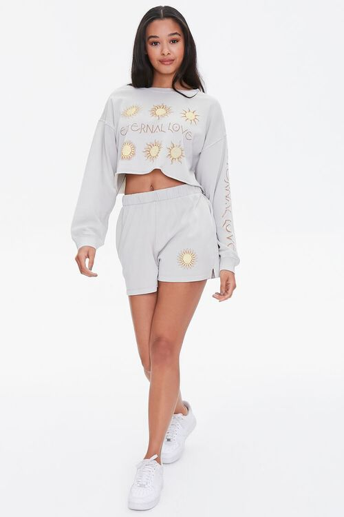 Celestial Graphic Pullover & Shorts Set, image 4