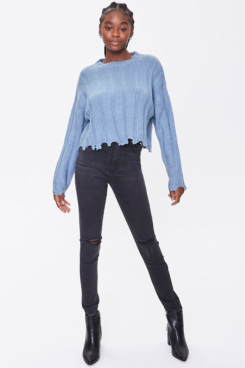 Ribbed Tattered-Trim Sweater, image 4