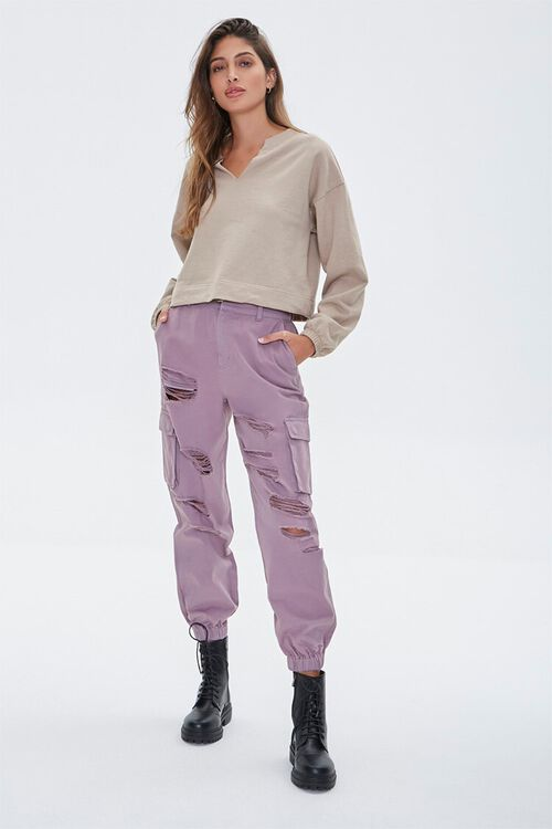 Distressed Cargo Joggers, image 1