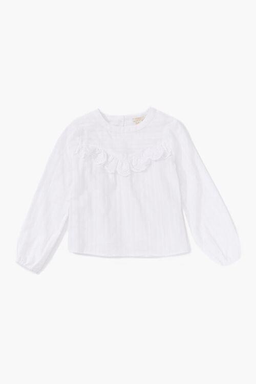 Girls Ruffled Lace Top (Kids), image 1