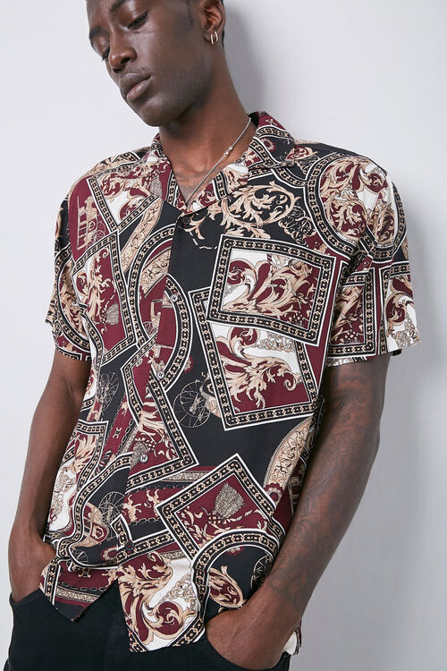 Classic Fit Paisley Shirt, image 1