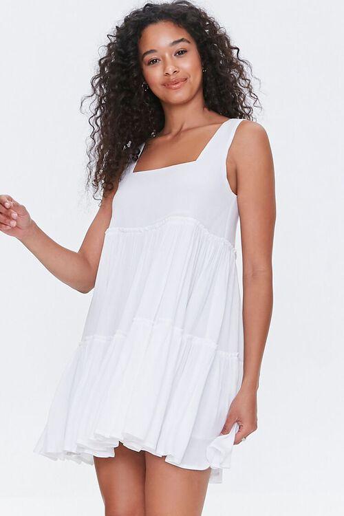 Shirred Tiered Mini Dress, image 1