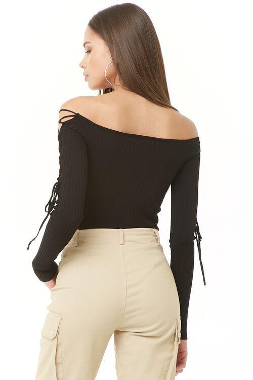 Ribbed Off-The-Shoulder Bodysuit, image 4