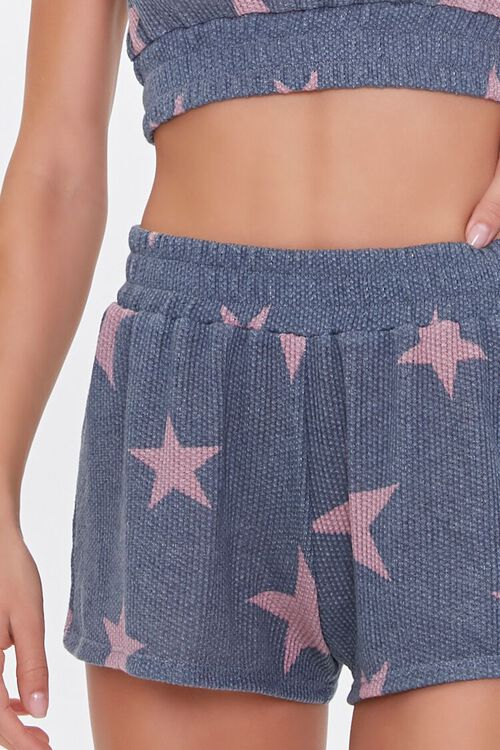 Star Print Crop Top & Shorts Lounge Set, image 5