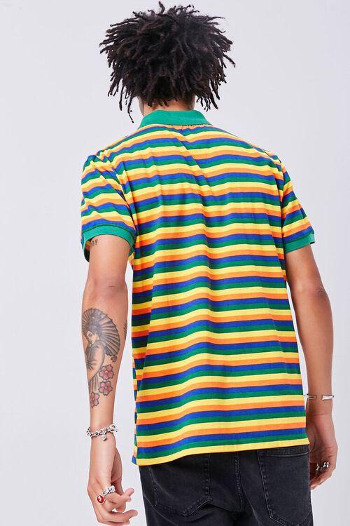 GREEN/MULTI Striped Knit Polo, image 3