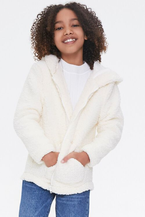 Girls Faux Shearling Zip-Up Hoodie (Kids), image 6