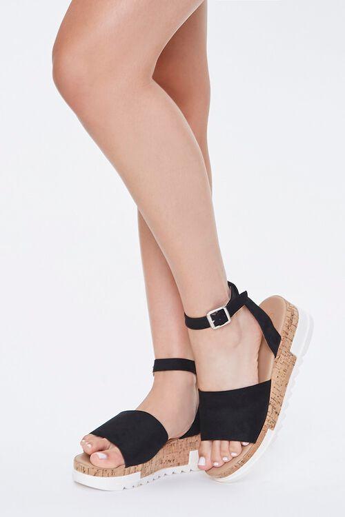 Open-Toe Cork Sandals, image 1
