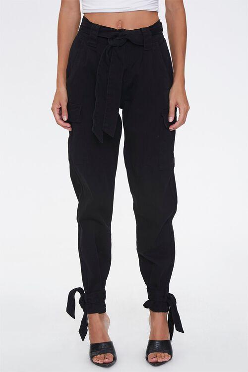 Tie-Waist Cargo Pants, image 2