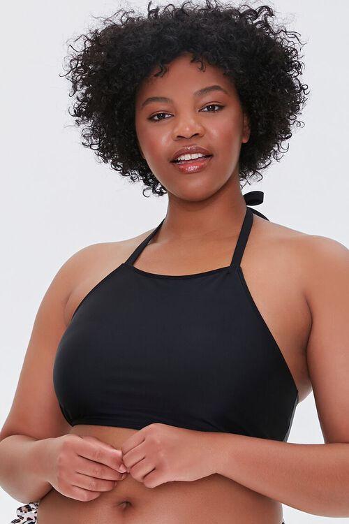 Plus Size Halter Bikini Top, image 1