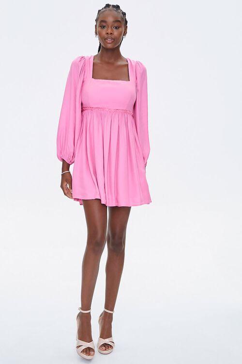 Peasant-Sleeve Mini Dress, image 4