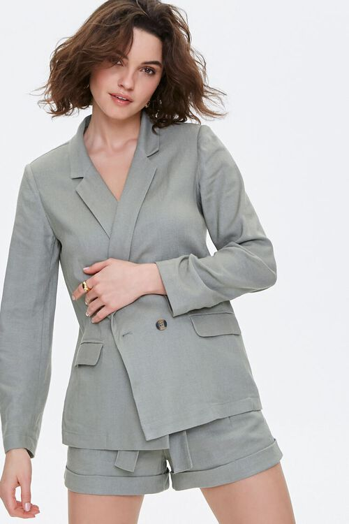 Double-Breasted Linen Blazer, image 5